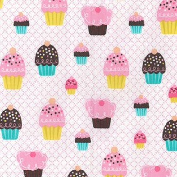 Michael Miller Fabric Cupcake Party Pink 1 yard, yardage available