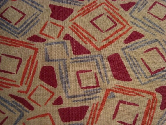 Vintage 1930s Feedsack Fabric - Great Colors