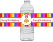 Candyland Fun Printable Water Bottle Wraps - Digital File
