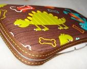 Designer Travel Wipes Case with Diaper Strap- Dino Dudes