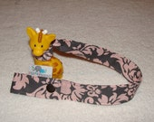 Toy or Cup Strap-  You CHOOSE Fabric