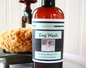 DOG WASH for Itchy Skin and Allergies All Natural Shampoo 8 oz