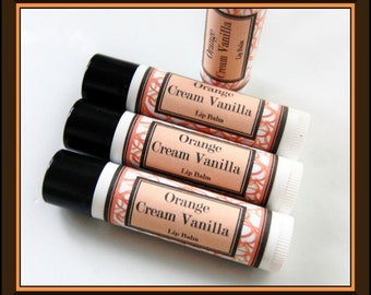 Orange Swirl Lip Balm