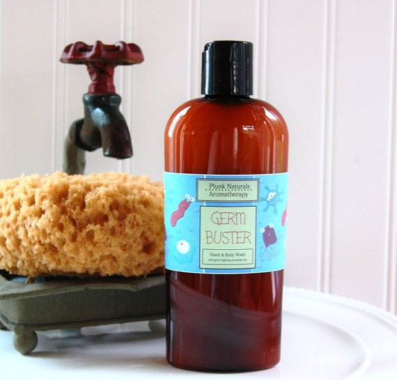 GERM BUSTERS Natural Antibacterial Hand and Body Soap 4 oz