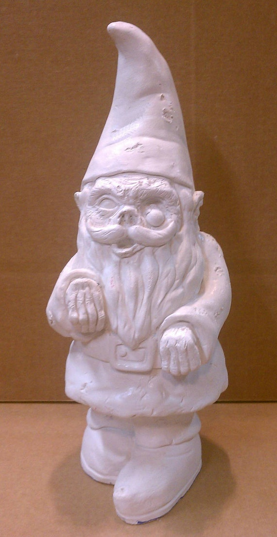 Gnome In Garden: Zombie Garden Gnome Walking Dead NOT PAINTED