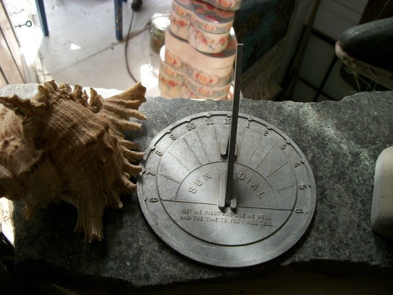 RESERVED forTamara - SALE - Vintage Sundial From Rustysecrets