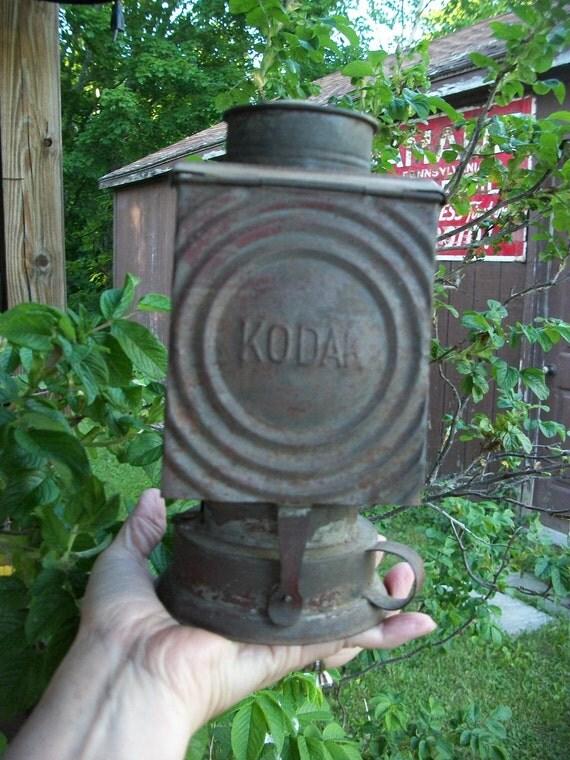 Antique Kodak Dark Room Lantern from Rustysecrets