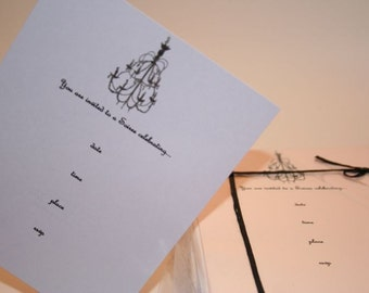 Chandelier Soiree Invitation