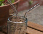 Glass Bended Straws - 2 - Regular Size - Reusable and Eco-Friendly -  Lifetime Guarantee