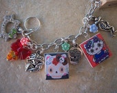 Hello Kitty Day of the Dead Charm  Bracelet