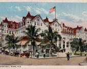 Vintage Florida Postcard - Halcyon Hall Hotel, Miami (Unused)