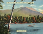 Vintage Maine Postcard - Mt. Katahdin, the Loftiest Peak in Maine (Unused)
