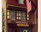 Vintage Pennsylvania Postcard - Betsy Ross House, Philadelphia (Unused)