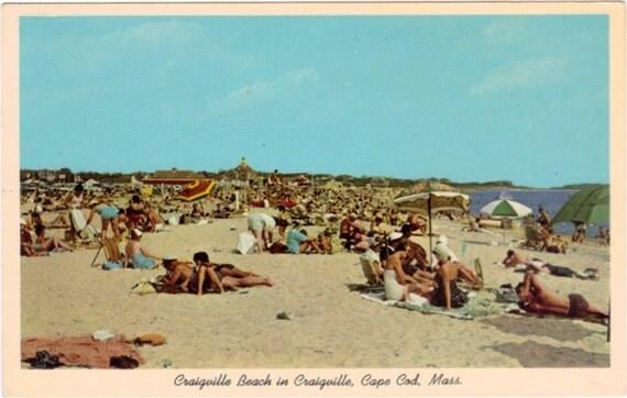 Vintage Cape Cod Postcard - Craigville Beach (Unused)