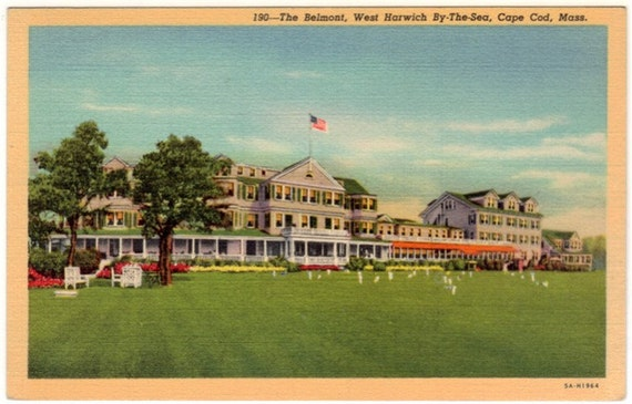 Vintage Cape Cod Postcard - The Belmont Hotel, West Harwich (Unused)