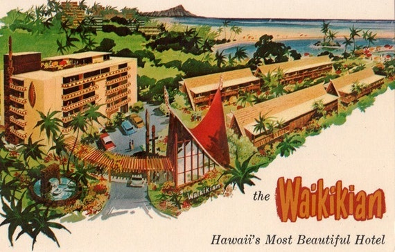 Vintage Hawaii Postcard - Waikikian Hotel, Honolulu (Unused)