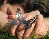 Dark Tiger Butterfly Ring