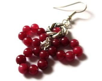 Red Ruby Passion of Floral Earrings