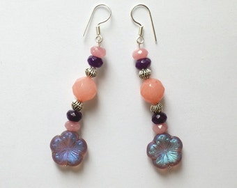 Joy of purple flowers earrings