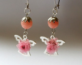 Roses for you my angel mother earrings