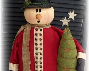 "Primitive 36"" Snowman Door Greeter  E Pattern"