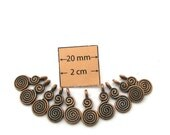Antiqued Copper 16MM X 8MM Spiral Dangle/Charm, Sold per 10 pc,  3020-03
