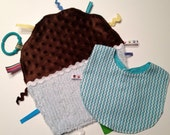Baby Shower Gift set Chocolate Cupcake Ribbon Blanket ON SALE