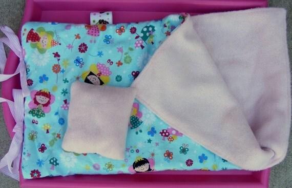 Doll Sleeping Bag, Great for Teddy Bears or Softies too