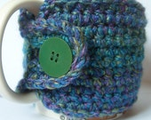 Crochet Ocean Blue Mug Cozy