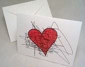 Anti-Valentine's Day Card - Heart- 6 cards and envelopes