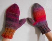 Knitting Pattern PDF - Multicolored Mittens