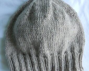 Men's Wool Winter Hat - Oatmeal