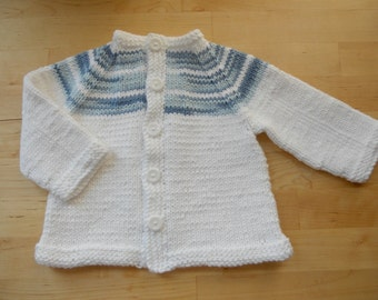 Knitting Pattern PDF - Two-tone Baby Cardigan