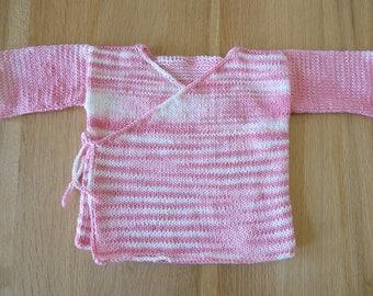 Knitting Pattern PDF - Baby Kimono Jacket