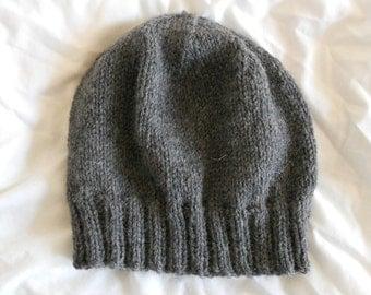 Men's Wool Winter Hat - Charcoal gray