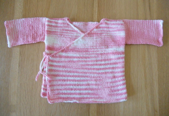Knitting Pattern PDF Baby Kimono Jacket by EmptyKnits on Etsy