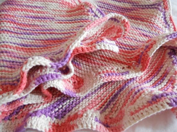 Cotton Cat Blanket - Pink and Purple