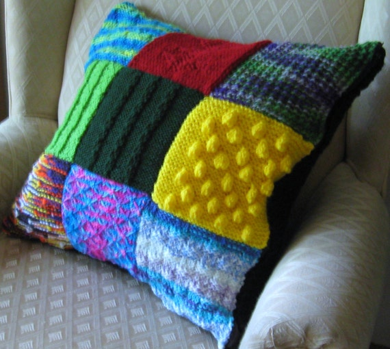 Bright Patchwork Pillow Cover