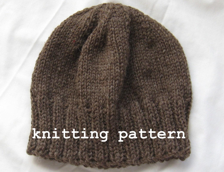Knitting Pattern PDF Mens Winter Beanie