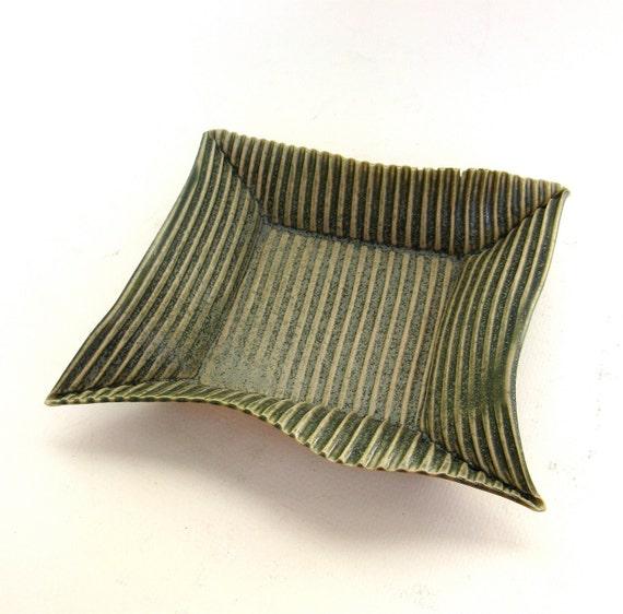 hand built porcelain tray