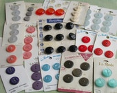 Carded Buttons - 19 Cards -- 64 Buttons