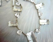 SALE Vintage New Year's Eve Art Deco Rock Crystal Necklace