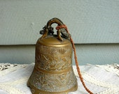 "Vintage Brass Bell 5"" High EXtra Large"