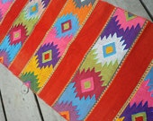 Vintage Mexican Table Runner Bright Colors
