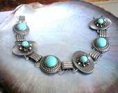 Vintage Turquoise Bracelet 1960s