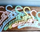 Vintage Baby Hangers Pastel Shades (6)