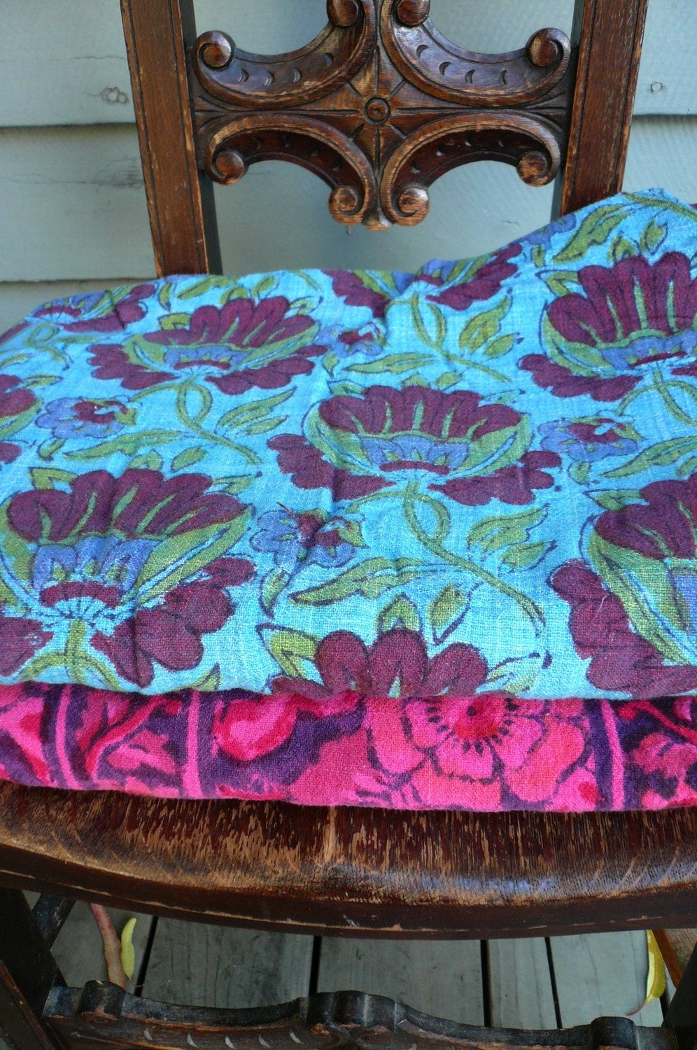 Resvd For Kate Hippie Indian Print Bedspread From The 1960s