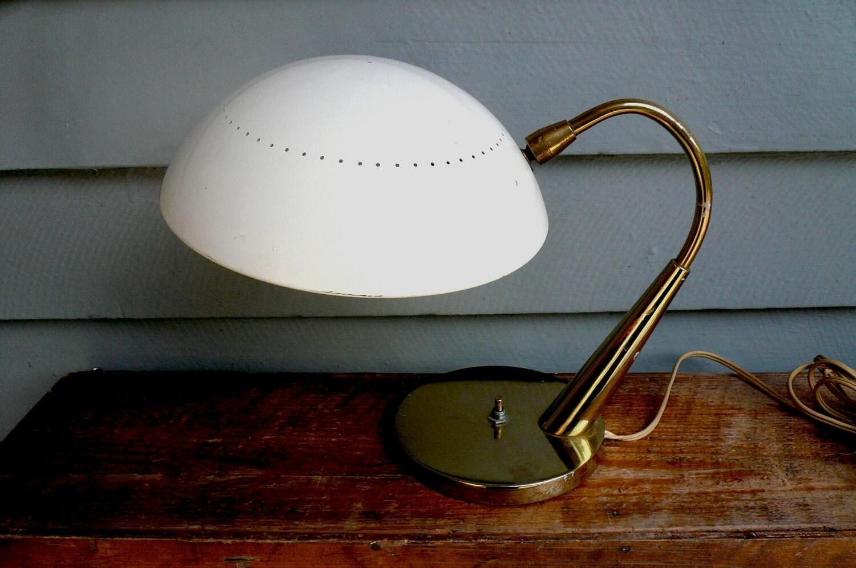 mid century desk lamp atomic saucer. Black Bedroom Furniture Sets. Home Design Ideas