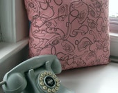 Pink Princess Phone Pillow Cover 18 x 18