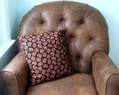 Chocolate Covered Pretzel Pillow Cover 16 x 16 Black Brown